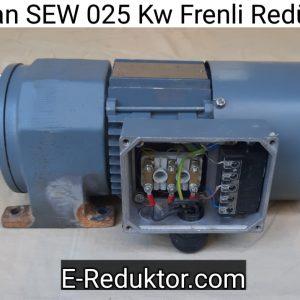 ikinci el 0.25 kw frenli redüktör