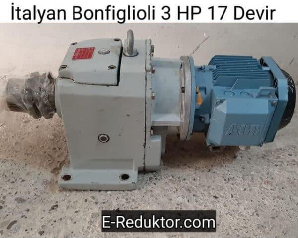 3 HP Bonfiglioli Redüktör