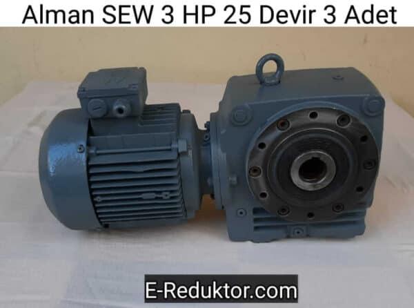 SEW 3 HP 25 devir Redüktör
